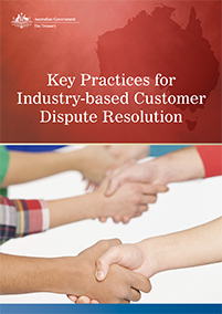 Key Practices for Industry-based Customer Dispute Resolution