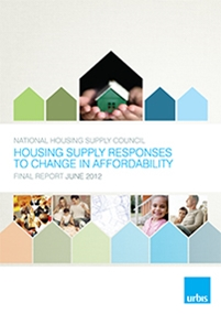Housing supply responses to changes in affordability, report cover