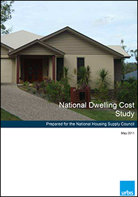 National Dwelling Costs Study, report cover