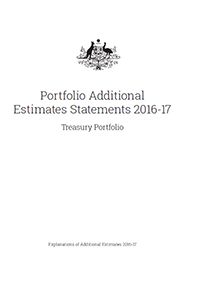 Portfolio Additional Estimates Statements 2016-17